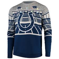 Up Indianapolis Ugly Bluetooth Colts Royal Light Sweater Men's