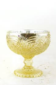 kingston mercury glass compote 4 25in x 4 5in gold with gold tinted glass on outside silver on inside com
