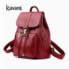 new luxury women leather backpack school bags for teenagers girl s designer travel bag vintage women backpacks mochilas escolar hydration backpack womens