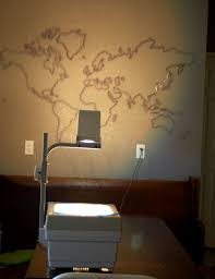 projector wall paintDIY World Map Mural  Sunday school Room and Craft