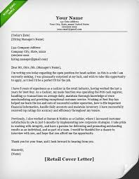 Example Of Resume Cover Letters New Retail Cover Letter Samples Resume Genius
