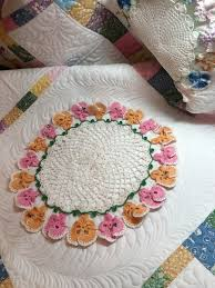 Portable Quilt Display Stand The Making of the Pansy Doily Quilt Rhonda Dort 61