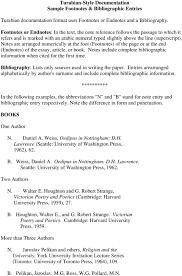 Turabian Style Documentation Sample Footnotes Bibliographic