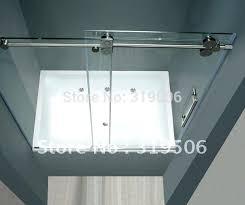 frameless sliding shower door roller and bracket set parts bathrooms