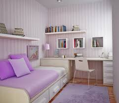 Kids Bedroom Ideas for Growth Age Boy: Small Purple Kids Bedroom Ideas  Purple Stripped Wallpaper