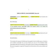 Loan Document Template | Template Business