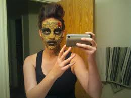how to do awesome zombie makeup glue 2 ply toilet paper your face