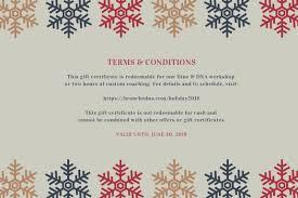 Holiday Gift Certificate Holiday Gift Certificate Brancheddna