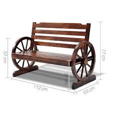 fir wood 2 seater bench