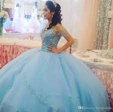 <b>Elegant Light Sky Blue</b> Ball Gown Quinceanera Dresses 2019 ...