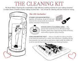 my brush betty s original makeup brush cleaning kit the first makeup brush washing machine