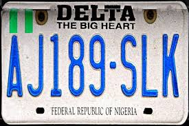 delta state plate number codes and what