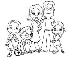 Kleurplaat Familie