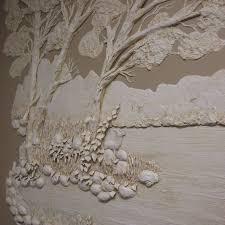 plaster wall art 50s universal statuary chalkware wall
