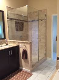Remodeled Bathroom Showers Mesmerizing Newly Remodeled Stand Up Shower With Beautiful Tile Work Bathroom