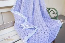 Free Crochet Blanket Patterns Unique Baby Blue Scallops Crochet Blanket Free Crochet Pattern