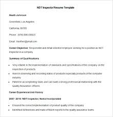 ndt resume samples ndt technician resume example