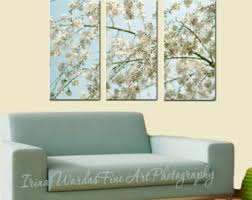 3 panel wall art nature 3 piece wall art cherry blossom canvas wall art aqua mint beige bedroom extra large art tryptich art oversized on large 3 panel wall art with large wall art astract wall art abstract art print wall art