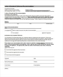 academic reference letter 79 examples of recommendation letters