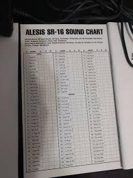 Alesis Dm5 Sound Chart Alesis Sr16 Digital Drum Machine