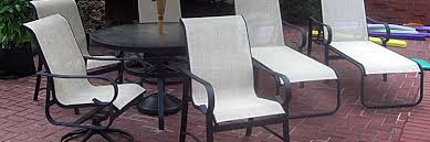 Carter Grandle Replacement Slings and Patio Furniture Refinishing