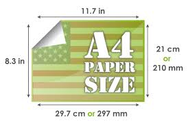 a4 paper size in inches a4 paper size 297 x 210 mm 29 7 x 21 cm 11 7 x 8 3 inches