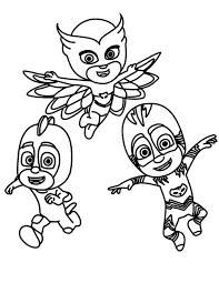 Pj Masks To Print For Free Pj Masks Kids Coloring Pages