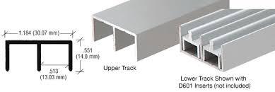 aluminum sliding cabinet door track. Satin Anodized \ Aluminum Sliding Cabinet Door Track I