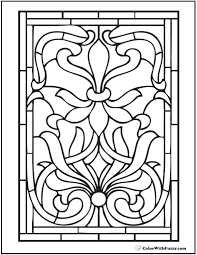 Stained Glass Coloring Pages Interesting Ideas Stained Glass