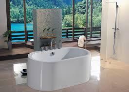 Acrylic Bathroom Sink Aquatica Purescape 55 X 30 Semi Freestanding Acrylic Bathtub