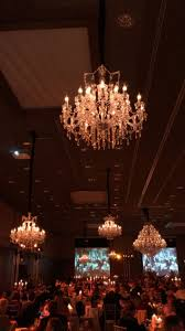 exclusive gala with chandeliers and candelaba s
