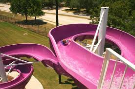 Huge Space Backyard Water Slides Pink Cool Water Slides 18m