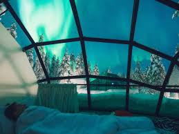 A Hotel In Finland Has Glass Igloos To Watch The Northern Lights