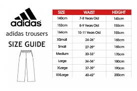Adidas Medium Size Chart Adidas Tracksuit Pants Bottoms Adult And Kids