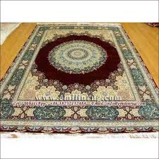 handmade silk rug carpets for 8x10 area rugs gold red 240l 400kpsi double knotted oriental persian design chinese factory manufacturers china