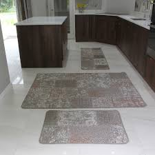 Non Slip Flooring For Kitchens Small Large Beige Patchwork Rug Non Slip Durable Easy Clean Modern