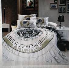 designer versace monogram duvet bedding set twin full queen or king 100 cotton