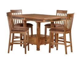 Sedona Collection – Rustic Oak Counter Dining Set Furniture