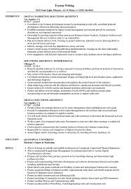Solutions Architect Resume Digital Solutions Architect Resume Samples Velvet Jobs 12