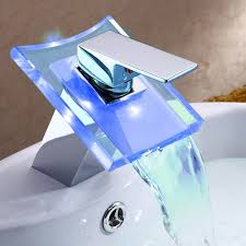 deck mount modern single handle widespread waterfall bathroom vessel sink led faucet chrome bath tub mixer taps bathtub faucets unique