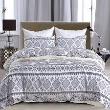 boho bed linen set palm leaves bedding set s bed bedclothes microfiber white comforter duvet cover for king queen funky duvet covers velvet duvet