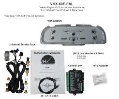 dakota digital wiring diagram 1940 ford dakota discover your dakota digital 6063 ford falcon analog dash gauges black alloy
