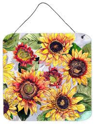 flower sunflower aluminium metal wall