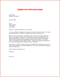 Download Work Study Cover Letter Haadyaooverbayresort Com