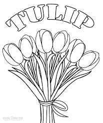 Small Picture Printable Tulip Coloring Pages For Kids Cool2bKids Plant and