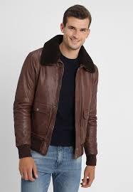monterey leather jacket brown