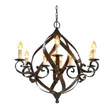 wrought iron chandeliers rustic globe chandelier rod large