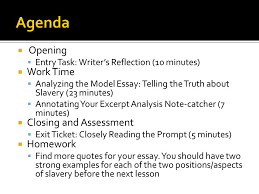 writing an analysis essay introducing the writing prompt and the  2  opening