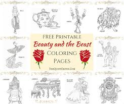 Small Picture 10 FREE Printable Beauty and the Beast Coloring Pages The