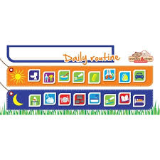 Monkey Chops Daily Routine Flexible Magnetic Chart